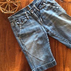7 For All Mankind Long Denim Shorts 25